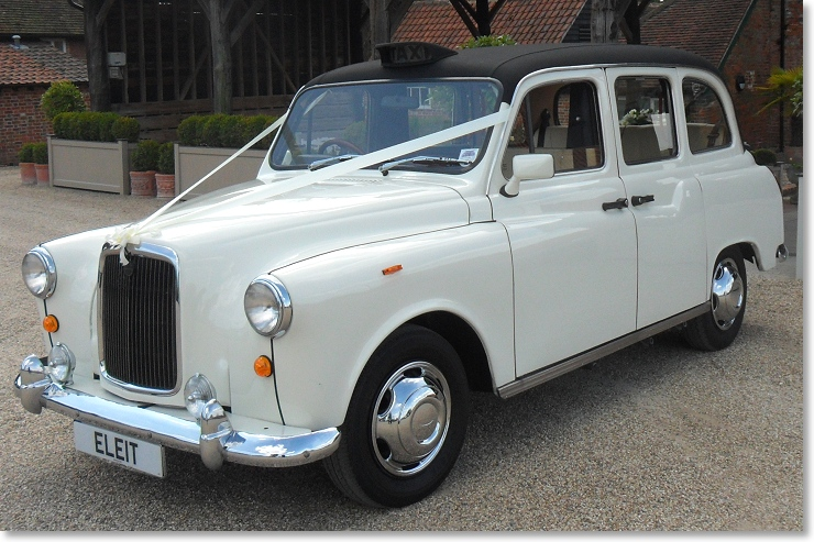 London taxi cab for weddings in Essex