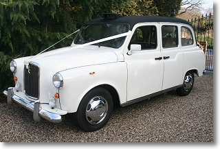 London Taxi Cab for wedding car hire in Essex